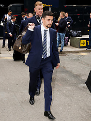 Manchester City's Jesus Navas arrives at Manchester Airport to board the team flight to Barcelona ahead of the UEFA Champions League second leg match against Barcelona - Photo mandatory by-line: Matt McNulty/JMP - Mobile: 07966 386802 - 17/03/2015 - SPORT - Football - Manchester - Manchester Airport - Barcelona v Manchester City - UEFA Champions League