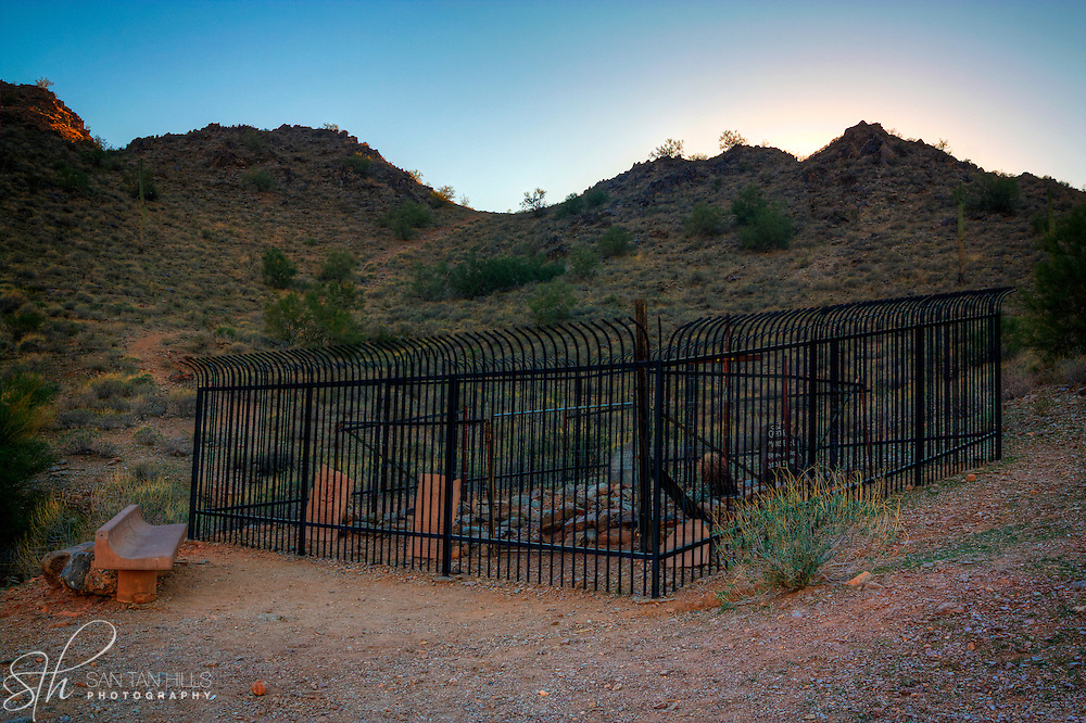 Burial site along the Goldmine Trail - San Tan Regional Park, Queen Creek, AZ