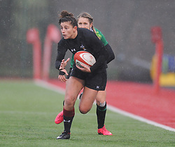 Wales women's Jessica Kavanagh-Williams on the attack<br /> <br /> Photographer Mike Jones/Replay Images<br /> <br /> International Friendly - Wales women v Ireland women - Sunday 21st January 2018 - CCB Centre for Sporting Excellence - Ystrad Mynach<br /> <br /> World Copyright © Replay Images . All rights reserved. info@replayimages.co.uk - http://replayimages.co.uk