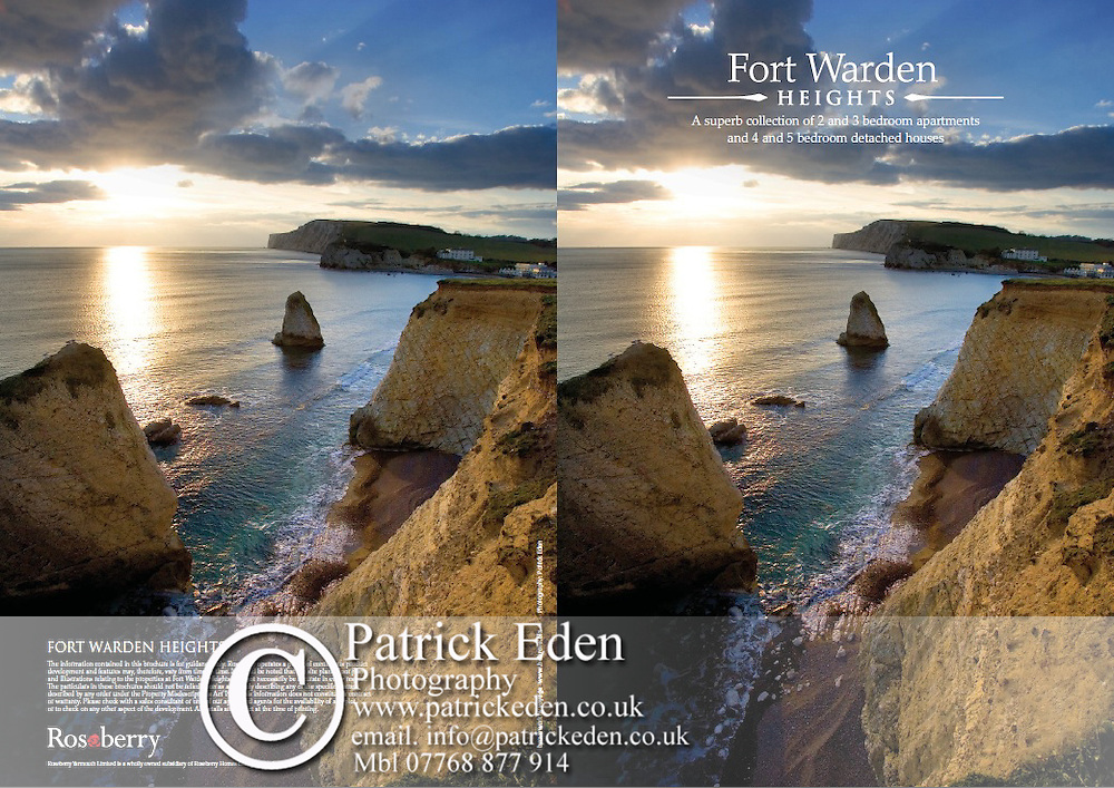 Brochure for Fort Warden Heights housing development in Totland Isle of Wight England UK ,