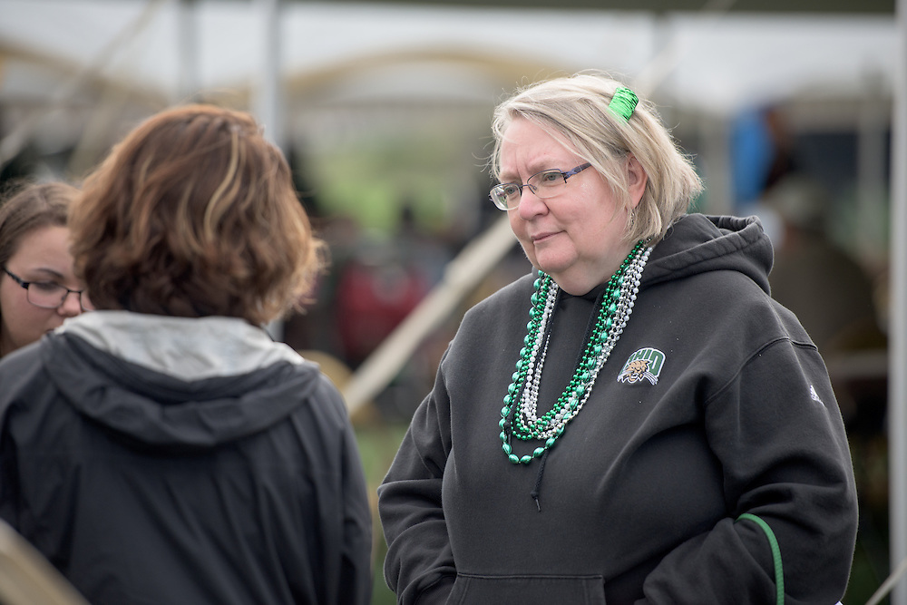 Ohio University Executive Vice President and Provost, Pam Benoit, attends the homecoming tailgate party at Tailgreat Park on Saturday, October 8, 2016.