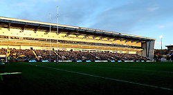A general view of Sixways in the winter sunlight - Mandatory by-line: Robbie Stephenson/JMP - 28/01/2017 - RUGBY - Sixways Stadium - Worcester, England - Worcester Warriors v Harlequins - Anglo Welsh Cup