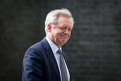 © Licensed to London News Pictures. 19/04/2017. London, UK. Secretary of State for Exiting the European Union David Davis walking through Downing Street. Yesterday, Theresa May called a snap General Election, to take place on 8 June 2017. Photo credit : Tom Nicholson/LNP
