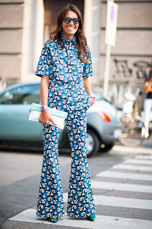 Viviana Volpicella in a Panda Print Suit
