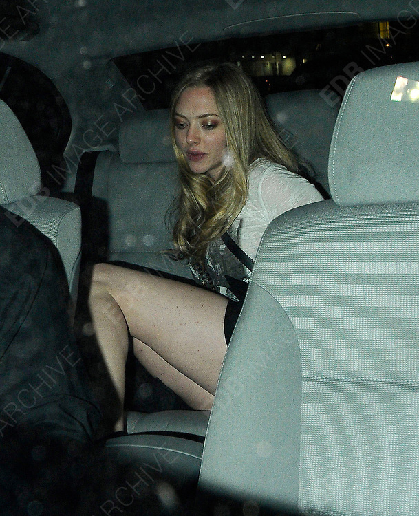 08.APRIL.2011. LONDON<br /> <br /> ACTRESS AMANDA SEYFRIED LEAVING THE AMIKA NIGHTCLUB IN CENTRAL LONDON<br /> <br /> BYLINE: EDBIMAGEARCHIVE.COM<br /> <br /> *THIS IMAGE IS STRICTLY FOR UK NEWSPAPERS AND MAGAZINES ONLY*<br /> *FOR WORLD WIDE SALES AND WEB USE PLEASE CONTACT EDBIMAGEARCHIVE - 0208 954 5968*