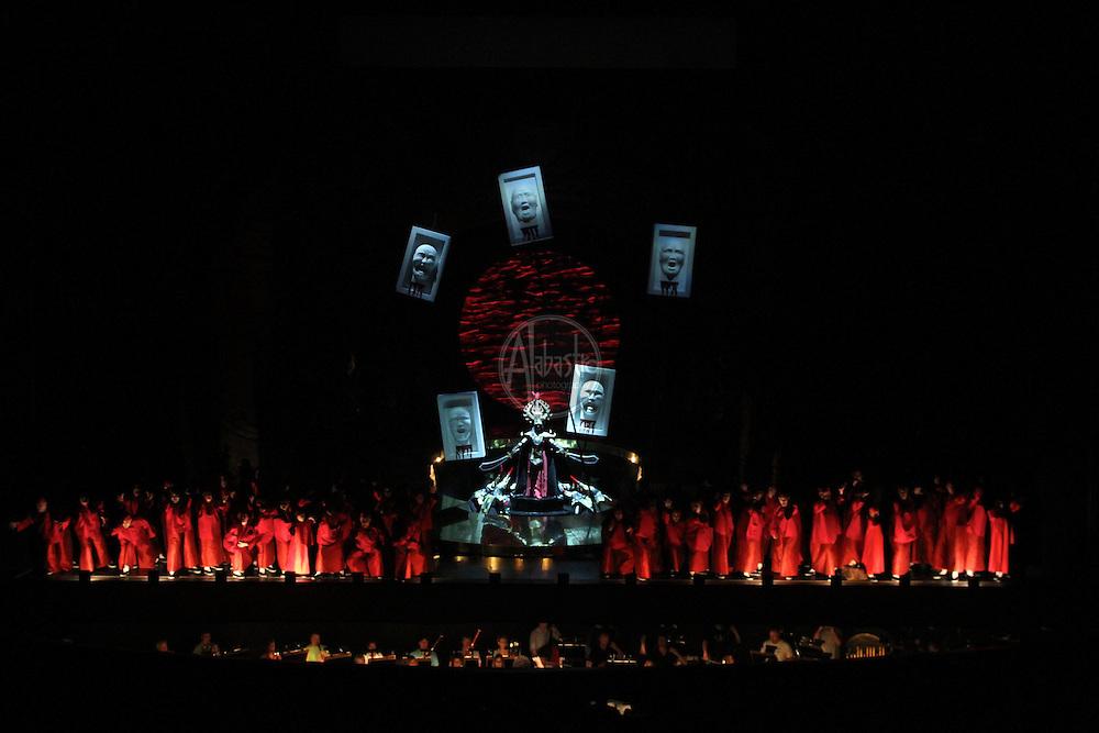 """Seattle Opera """"Turandot"""" Silver Dress, 2012."""