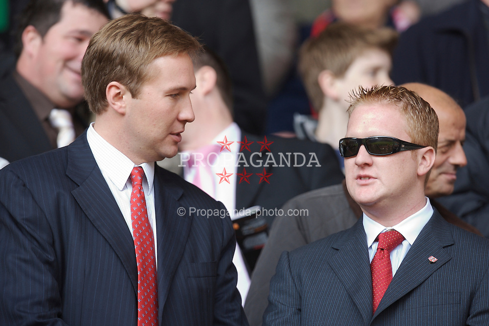 Liverpool, England - Saturday, March 3, 2007: The sons of Liverpool's co-owner Tom Hicks before the Premiership match against Arsenal at Anfield. (Pic by David Rawcliffe/Propaganda)
