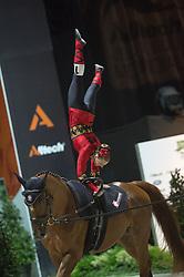 Simone Jaiser, (SUI), Luk, Rita Blieske - Individuals Women Freestyle Vaulting - Alltech FEI World Equestrian Games™ 2014 - Normandy, France.<br /> © Hippo Foto Team - Jon Stroud<br /> 03/09/2014