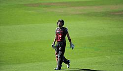 Ryan Davies of Somerset walks off after being dismissed.  - Mandatory by-line: Alex Davidson/JMP - 29/08/2016 - CRICKET - Edgbaston - Birmingham, United Kingdom - Warwickshire v Somerset - Royal London One Day Cup semi final