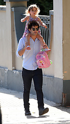 Lee Mead out with his daughter Betsy in north London, UK. 31/08/2013<br />BYLINE MUST READ : JAMESY/GOTCHA IMAGES<br /><br />Copyright by © Gotcha Images Ltd. All rights reserved.<br />Usage of this image is conditional upon the acceptance <br />of Gotcha Images Ltd, terms and conditions available at<br />www.gotchaimages.com