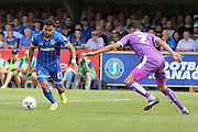 Andy Barcham of AFC Wimbledon during the Sky Bet League 2 match between AFC Wimbledon and Plymouth Argyle at the Cherry Red Records Stadium, Kingston, England on 8 August 2015. Photo by Stuart Butcher.