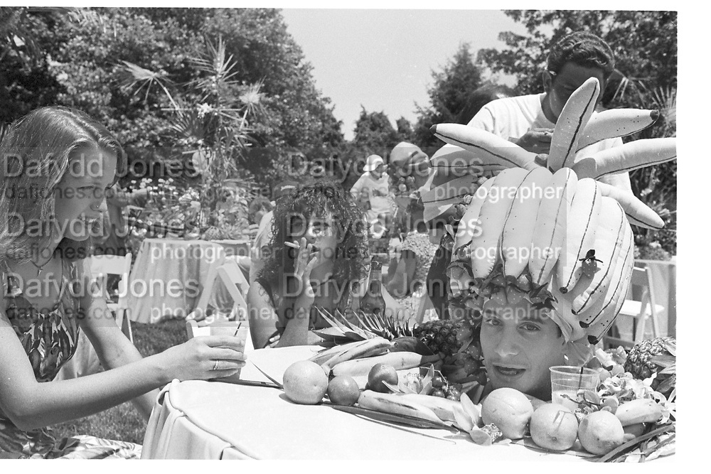 Table setting at 'Sunday by the Bay' benefit. Bellport. Long Island. U.S.A. August 1993. <br /> © Copyright Photograph by Dafydd Jones<br /> 66 Stockwell Park Rd. London SW9 0DA<br /> Tel 0171 733 0108<br /> Table setting at 'Sunday by the Bay' benefit. Bellport. Long Island. U.S.A. August 1993. <br /> ¬© Copyright Photograph by Dafydd Jones<br /> 66 Stockwell Park Rd. London SW9 0DA<br /> Tel 0171 733 0108