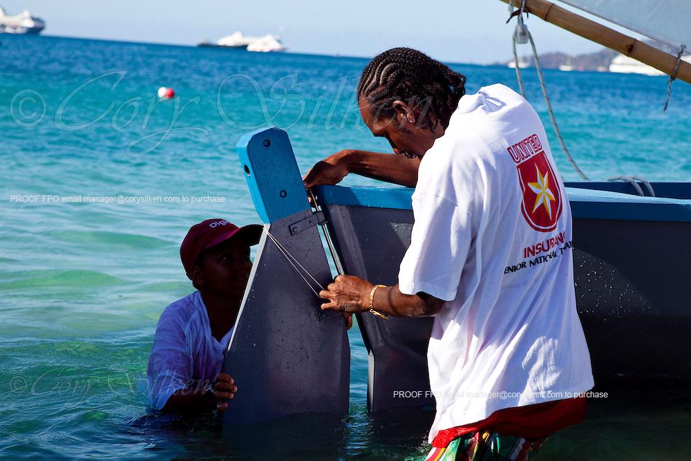 Grenada Sailing Festival 2010, Digicel Workboat Regatta, day two.