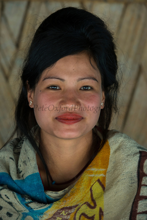 Adi Gallong woman<br /> Adi Gallong Tribe<br /> Arunachal Pradesh<br /> North East India