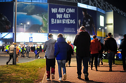 Fans arrive at the Cardiff City Stadium prior to kick off  - Mandatory by-line: Ryan Hiscott/JMP - 22/02/2019 -  FOOTBALL - Cardiff City Stadium - Cardiff, Wales -  Cardiff City v Watford - Premier League