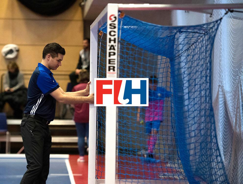 BERLIN - Indoor Hockey World Cup<br /> Kazakhstan - Poland<br /> foto: GOENTGEN Ben.<br /> WORLDSPORTPICS COPYRIGHT FRANK UIJLENBROEK