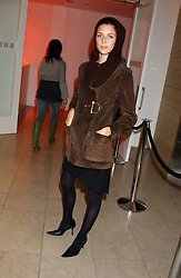 Model LIBERTY ROSS at a cocktail party hosted by MAC cosmetics to kick off London Fashion Week at The Hospital, 22 Endell Street London on 18th September 2005.At the event, top model Linda Evangelista presented Ken Livingston the Lord Mayor of London with a cheque for £100,000 in aid of the Loomba Trust that aims to privide education to orphaned children through a natural disaster or through HIV/AIDS.<br />