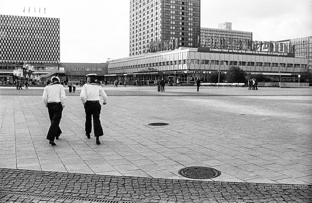 Sailors walking in Alexanderplatz
