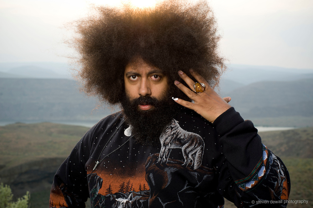 Quincy, WA. - May 28th, 2011 Reggie Watts poses for a portrait backstage at the Sasquatch Music Festival in George, WA. United States