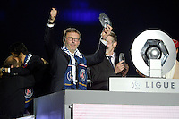joie PSG / Laurent Blanc - PSG Champion - 23.05.2015 - PSG / Reims - 38eme journee de Ligue 1<br /> Photo : Andre Ferreira / Icon Sport