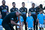 MELBOURNE, VICTORIA - JANUARY 06: Newcastle Jets watches on at the Hyundai A-League Round 11 soccer match between Melbourne City FC and Newcastle Jets on at AAMI Park in NSW, Australia 06 January 2019. (Photo by Speed Media/Icon Sportswire)