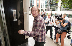© licensed to London News Pictures.  02/08/2011. London, UK. Jonathan May-Bowles, AKA Jonnie Marbles arriving at Westminster magistrates court today (02/08/2011) where he received a six month jail sentence for assault and causing harassment, alarm or distress. May-Bowles threw a foam pie at Rupert Murdoch as he gave evidence over the phone-hacking scandal at the House of Commons Culture, Media and Sport Committee hearing. Photo credit: Ben Cawthra.