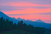 Kluane Ranges, the easternmost of the St Elias Mountains. <br /> Kluane National Park<br /> Yukon<br /> Canada