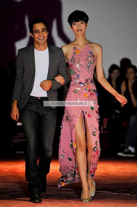 Zac Posen and Tao Okamoto Spring 2010 collection during Mercedes-Benz fashion week on September 14, 2009.