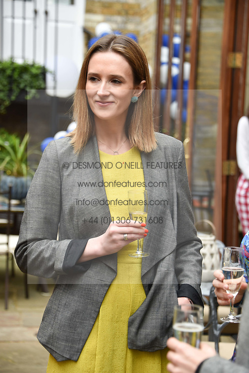 Maya Monro-Somerville at the Glasshouse Café & Bar at The Chelsea Courtyard launch party, 151 Sydney Street, London England. 25 April 2018.