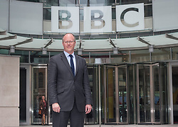 © London News Pictures. File picture dated 04/07/2012.  The BBC today (16/07/2013) released its annual report which revealed that the Pollard Review, which looked into Newsnight's dropped investigation into Savile, cost £2.4m. Pictured - George Entwistle outside BBC's New Broadcasting House. Photo credit: Tolga Akmen/LNP