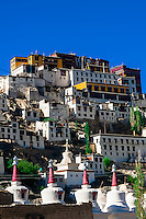 Thiksey Monastery, Leh Valley,  Ladakh; Jammu and Kashmir state, India.