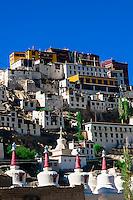 Thiksey Monastery, Leh Valley,  Ladakh; Jammu and Kashmir state, India.
