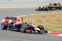 RICCIARDO Daniel (Aus) Red Bull Renault Rb10 action  during the 2014 Formula One World Championship, Grand Prix of Spain from may 8 to 11th 2014, in Barcelona, Spain. Photo Vincent Curutchet / DPPI