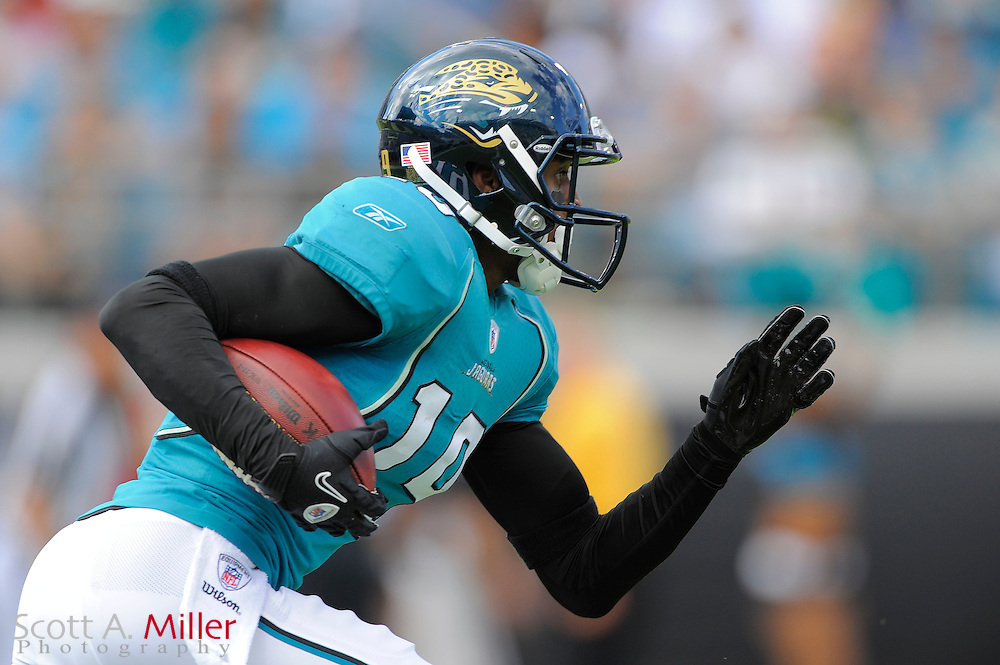 Jacksonville Jaguars wide receiver Tiquan Underwood (19) during the Jags game against the Cleveland Browns at EverBank Field on Nov. 21, 2010 in Jacksonville, Florida...©2010 Scott A. Miller