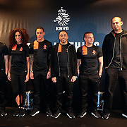NLD/Amsterdam/20120223 - Presentatie nieuwe uit teneu Nederlands Elftal 2012 / 2013, Nalden, nathala LA Rose, Gregory van der Wiel, Revenge, Wesley Sneijder en dj Afrojack