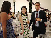 RUTH WILSON; TOBIAS MENZIES, Cartier International Polo. Guards Polo Club. Windsor Great Park. 25 July 2010. -DO NOT ARCHIVE-© Copyright Photograph by Dafydd Jones. 248 Clapham Rd. London SW9 0PZ. Tel 0207 820 0771. www.dafjones.com.
