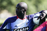 FOOTBALL - MONDIAL 2006 - FRANCE TEAM TRAINING IN CLAIREFONTAINE - 30/08/2005  LILIAN THURAM - <br />