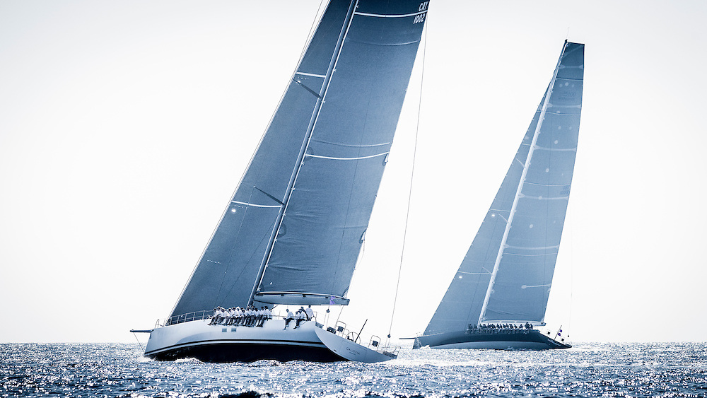 Sepetember 28th 2016, Saint-Tropez France, Wally yachts sailing in the coastal race