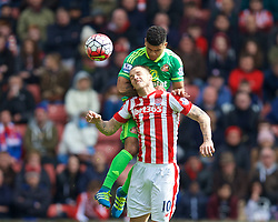 STOKE-ON-TRENT, ENGLAND - Saturday, April 30, 2016: Stoke City's Marko Arnautovic in action against Sunderland during the FA Premier League match at the Britannia Stadium. (Pic by David Rawcliffe/Propaganda)