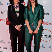 Dr Alka Bagri and Radhika Apte arrives at London Indian Film Festival world premiere of Anubhav Sinha's 'Article 15' at Picturehouse Central, on 20 June 2019, London , UK.