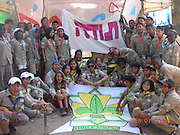 Israel, Tel Aviv, Shapira Neighbourhood, Children of Labour immigrants and Israeli children in the Scouts youth movement