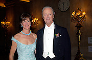 Lady Henrietta Spencer-Churchill and The Duke of Marlborough, Ball at Blenheim Palace in aid of the Red Cross, Woodstock, 26 June 2004. SUPPLIED FOR ONE-TIME USE ONLY-DO NOT ARCHIVE. © Copyright Photograph by Dafydd Jones 66 Stockwell Park Rd. London SW9 0DA Tel 020 7733 0108 www.dafjones.com