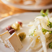 Andante Dairy Rondo; celery root, fennel and parsley salad; olives Acme pain epi: Greens Restaurant, San Francisco, CA
