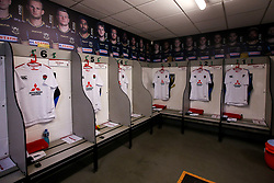The England U20 dressing room at Franklin's Gardens - Mandatory by-line: Robbie Stephenson/JMP - 15/03/2019 - RUGBY - Franklin's Gardens - Northampton, England - England U20 v Scotland U20 - Six Nations U20