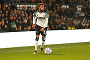 Jayden Bogle in action during the EFL Sky Bet Championship match between Derby County and Preston North End at the Pride Park, Derby, England on 23 November 2019.