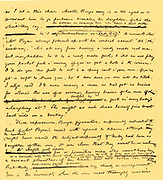 Page of manuscript of the novel 'Adam Bede' by George Eliot (Mary Ann Evans 1819-1880) which was published in 1859.