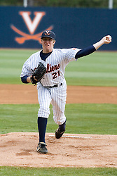 Virginia Cavaliers pitcher/firstbaseman Sean Doolittle (21) pitching against Duke. The Virginia Cavaliers Baseball team defeated the Duke Blue Devils 8-1 in the final game of a three game series at Davenport Field in Charlottesville, VA on April 8, 2007. The win secured a 2-1 series victory over the Blue Devils.