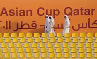 Fussball AFC Asian Cup 2011    09.01.2011 Japan - Jordanien Leere Zuschauerraenge im Quatar Sport Club Stadion