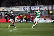 Dundee&rsquo;s Faissal El Bakhtaoui scores his side's consolation goal - Dundee v Celtic in the Ladbrokes Scottish Premiership at Dens Park, Dundee.Photo: David Young<br /> <br />  - &copy; David Young - www.davidyoungphoto.co.uk - email: davidyoungphoto@gmail.com