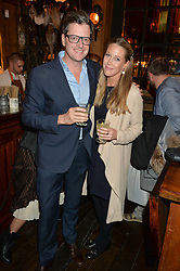 WILLIAM SITWELL and EMILY LOPES at the opening party of Mr Fogg's Tavern, 58 St.Martin's Lane, London hosted by William Sitwell on 8th October 2015.
